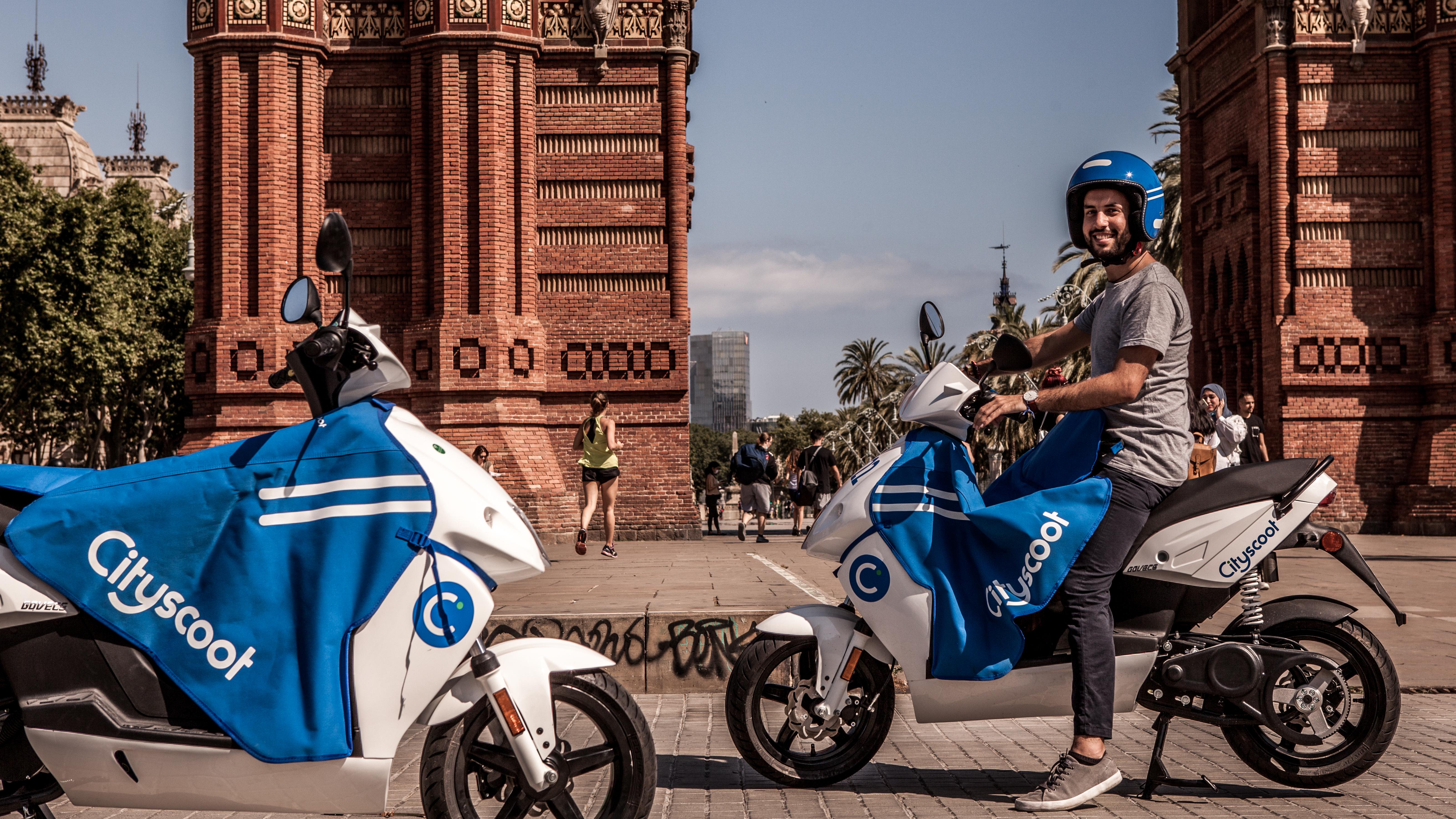Premiers Cityscoot dans la capitale catalane